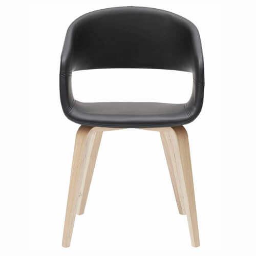 Bow spisebordsstol i kunstlæder og eg