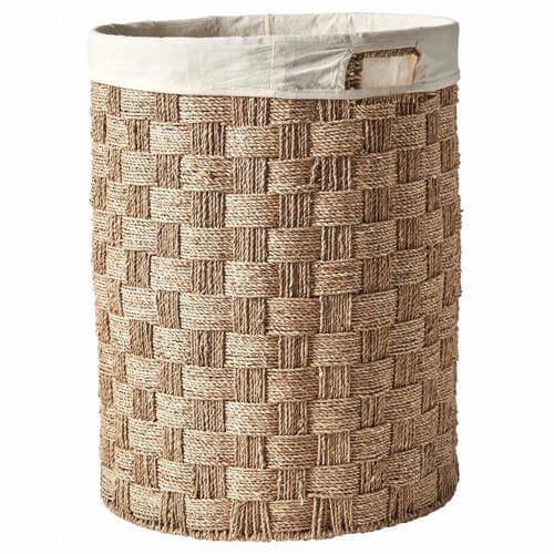 Gita vasketøjskurv i naturfarvet søgræs