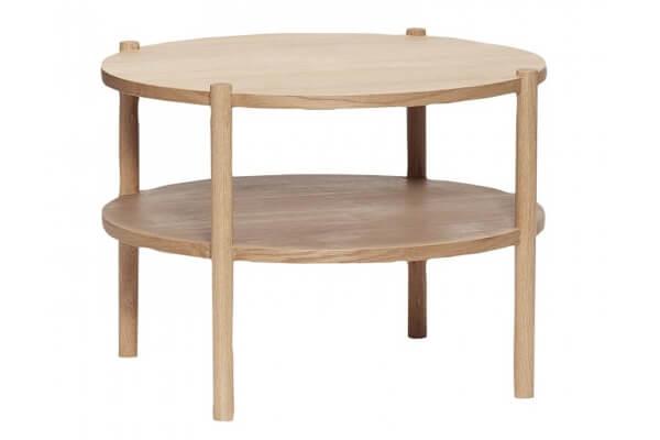 HÛBSCH bord rund egetræ natur