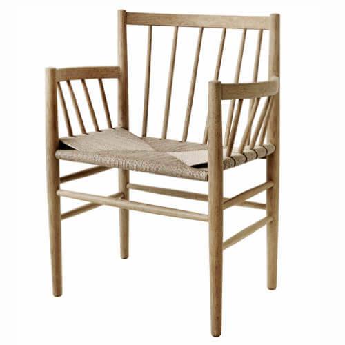 Jørgen Bækmark J81 spisebordsstol med armlæn