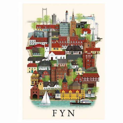 Martin Schwartz plakat af Fyn og Jylland