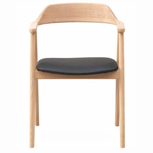 Newton spisebordsstol i sort læder