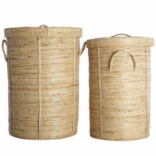 Vasketøjskurv House Doctor Chaka i rattan bambus