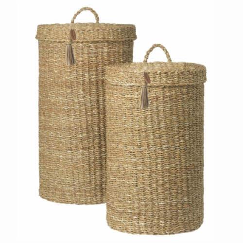 Vasketøjskurve 2 stk fra Cozy Living i seagrass