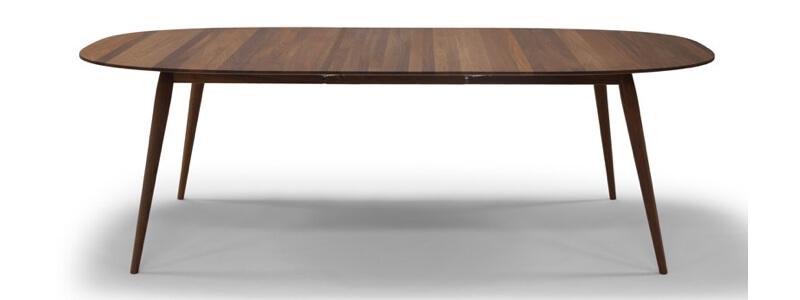 Bruunmunch PLAYdinner Lamé Curve spisebord med valgfrit udtræk