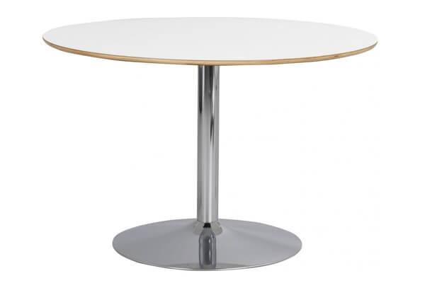 Fusion spisebord i højtrykslaminat og forkromet metal ben