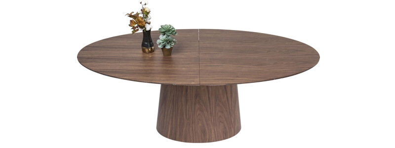Kare - Extension Benvenuto smukt valnødbord i flot design