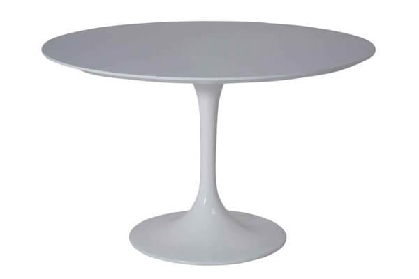 Kare Invitation rundt spisebord i retrodesign og glasfiber overflade