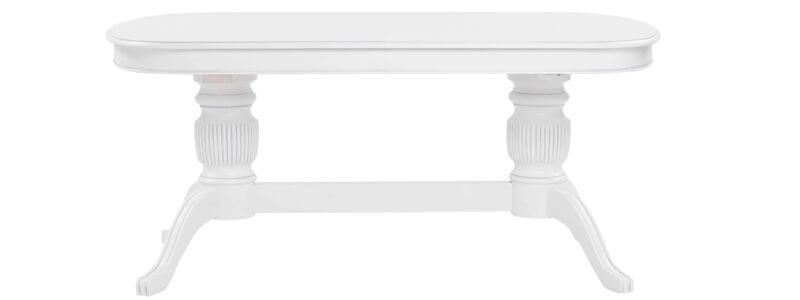 Mozart spisebord med udtræk i ovalt klassisk design