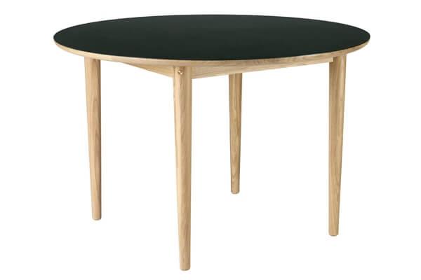 Unit10 rundt spisebord med linoeum overflade
