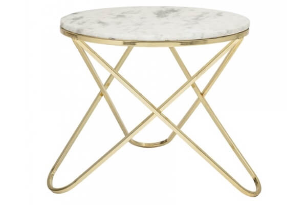 BLOOMINGVILLE Nuevo sofabord hvid marmor