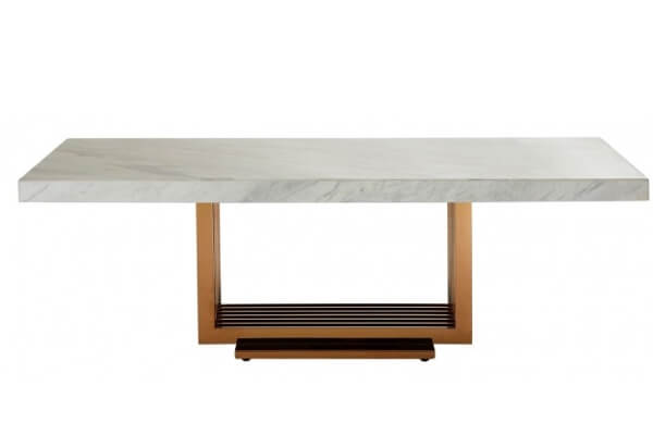 Sofabord i marmor og metal