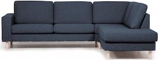 Amsterdam blå sofa med højt ryglæn og OPEN-END