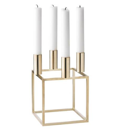 By Lassen Kubus Lysestage 4 Messing i dansk design