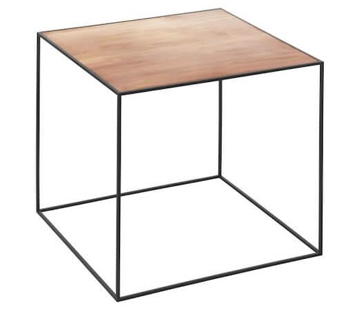 By Lassen twin bord - Lille kvadratisk sofabord med en smart vendbar bordplade