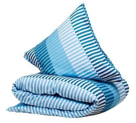 CPH living frederiksberg - Sengetøj af bomuldssatin i blå og turkis
