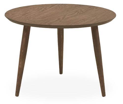 Fano sofabord - Lille rundt sofabord i olieret egetræ