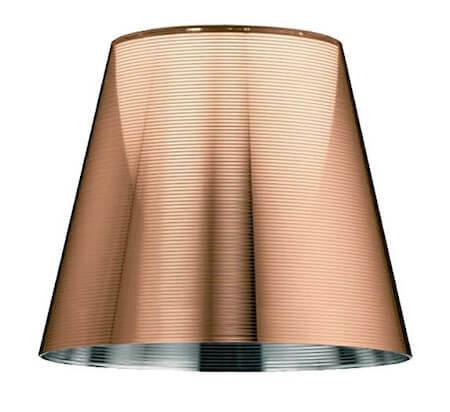 Flos lys transparent lampeskærm i polykarbonat og aluminium