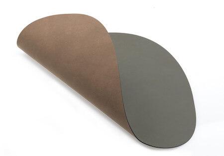 Funktionel dobbelt læder dækkeserviet Lind DNA Table Mat i blå-sort