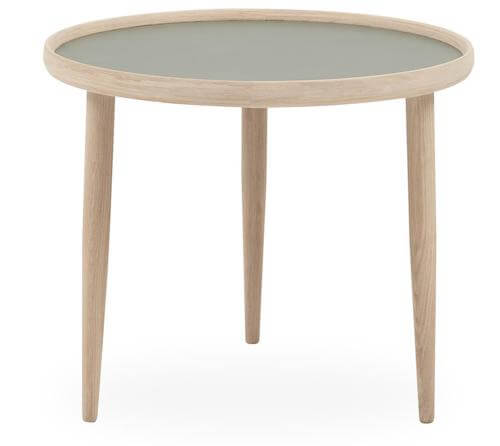 Halland sofabord - Lille bord moderne bord i hvidolieret eg og laminat top