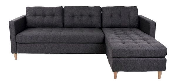 House Nordic Marino Sofa - Mørkegrå loungesofa med massive træben