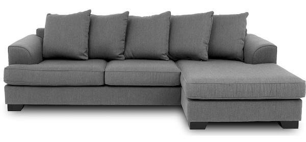 Kingston sofa med chaiselong - Lækker og komfortabel flyder sofa i høj kvalitet