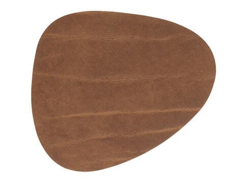 Lind DNA Glas Brik Curve Buffalo brun bordskåner til kopper og glas