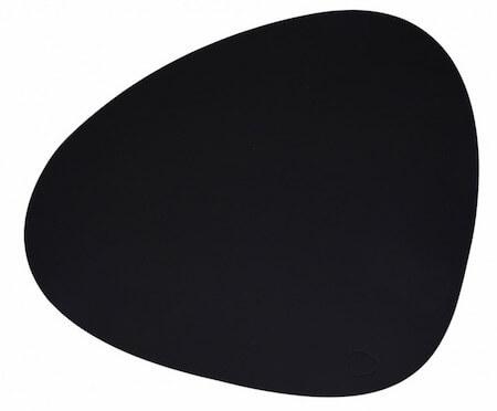 Lind DNA tablemat sort læder dækkeserviet Lind DNA tablemat sort læder dækkeserviet