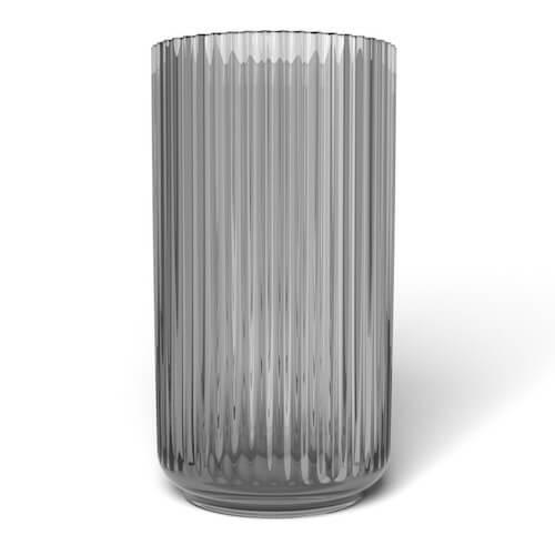 Lyngby vase i flot grå røget glas