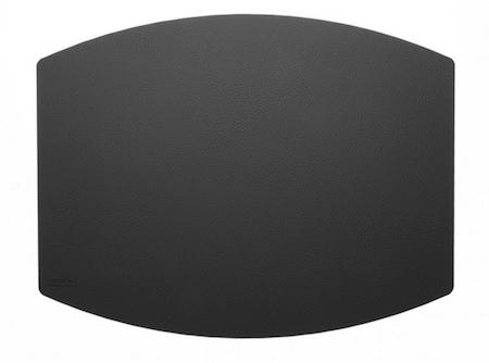 Mille W dækkeserviet i nordisk design i sort læder