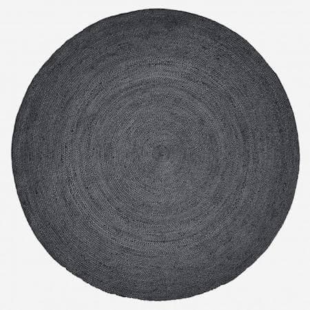 Nordal sort jute tæppe til boligens vigtigste rum