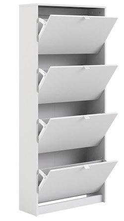 Osby hvidt skoskab med 4 skuffer med plads op til 24 par sko