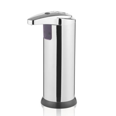 Sæbedispenser med sensor - Hygiejnisk dispenser i stål og sort farve