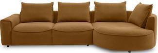 Samone sofa i flot mustard yellow farve og ben i sort plast
