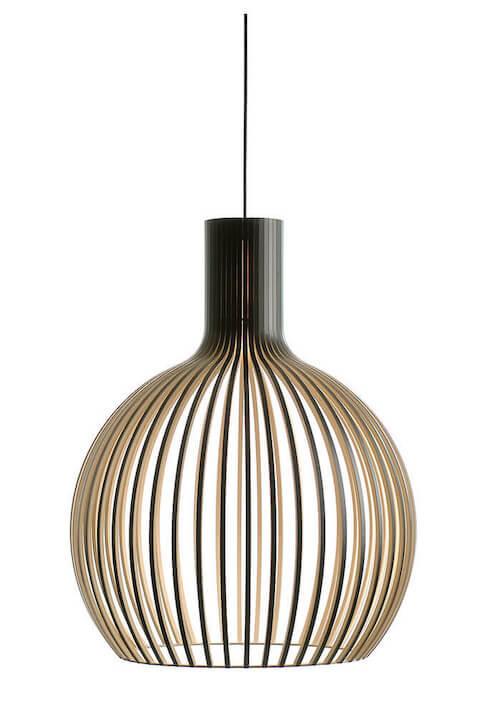 Secto Octo 4240 - Unik designer lampe med det bedste træhåndværk