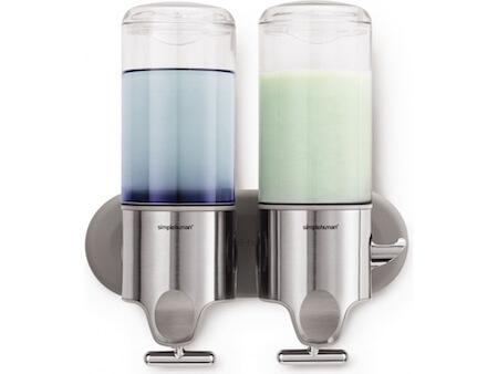 Simplehuman sæbepumpe - Dobbelt sæbedispensere til vægmontering