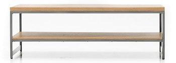 Toka sofabord med sildebensmønster og ben i sort stel
