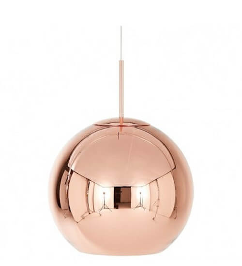 Tom Dixon Copper Shade - Smuk designer lampe i metal til enhver stue