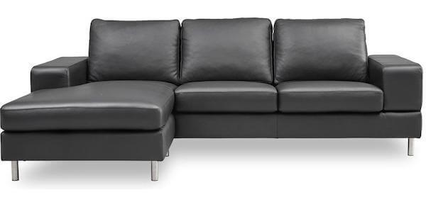 Umbria Lux sofa - Tidsløs læder sovesofa med chaiselong og lækre detaljer