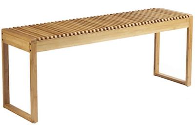 Living&More budgetvenlig entremøbel bænk i bambus i flot design