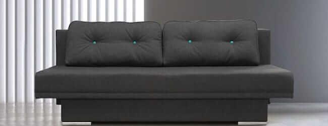 MIKI sovesofa i størrelse 150x200cm med springindlæg og ryghynder