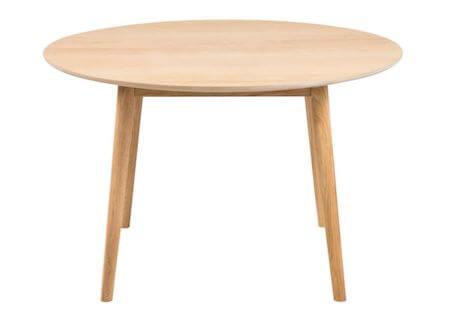 Nagano budgetvenlig rundt plankebord af træ i moderne design