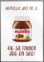 Sjov Nutella plakat til stuen