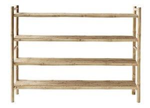 Tine K bambus reol med hylder til sko og boligtilbehør
