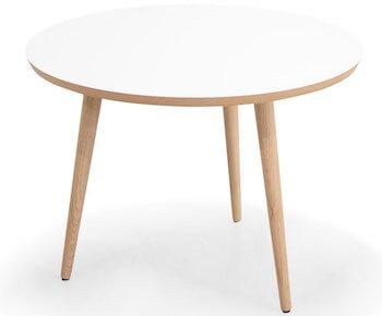 Arbor lille sofabord med hvid bordplade og træben
