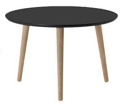 By Tika Lyon sort rundt sofabord i skandinavisk design
