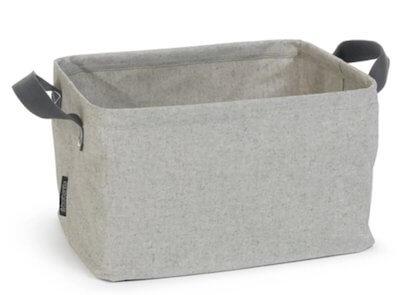 Grå foldbar vasketøjskurv - Fleksibel smudsafvisende kurv med hank