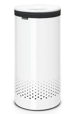 Hvid Brabantia kurv - Vasketøjskurv med udtagelig poser og ventilation