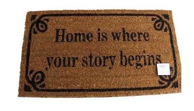 LaFinesse home dørmåtte med sød tekst