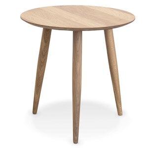 Mikado lille bord med massive ben i eg og nordisk design